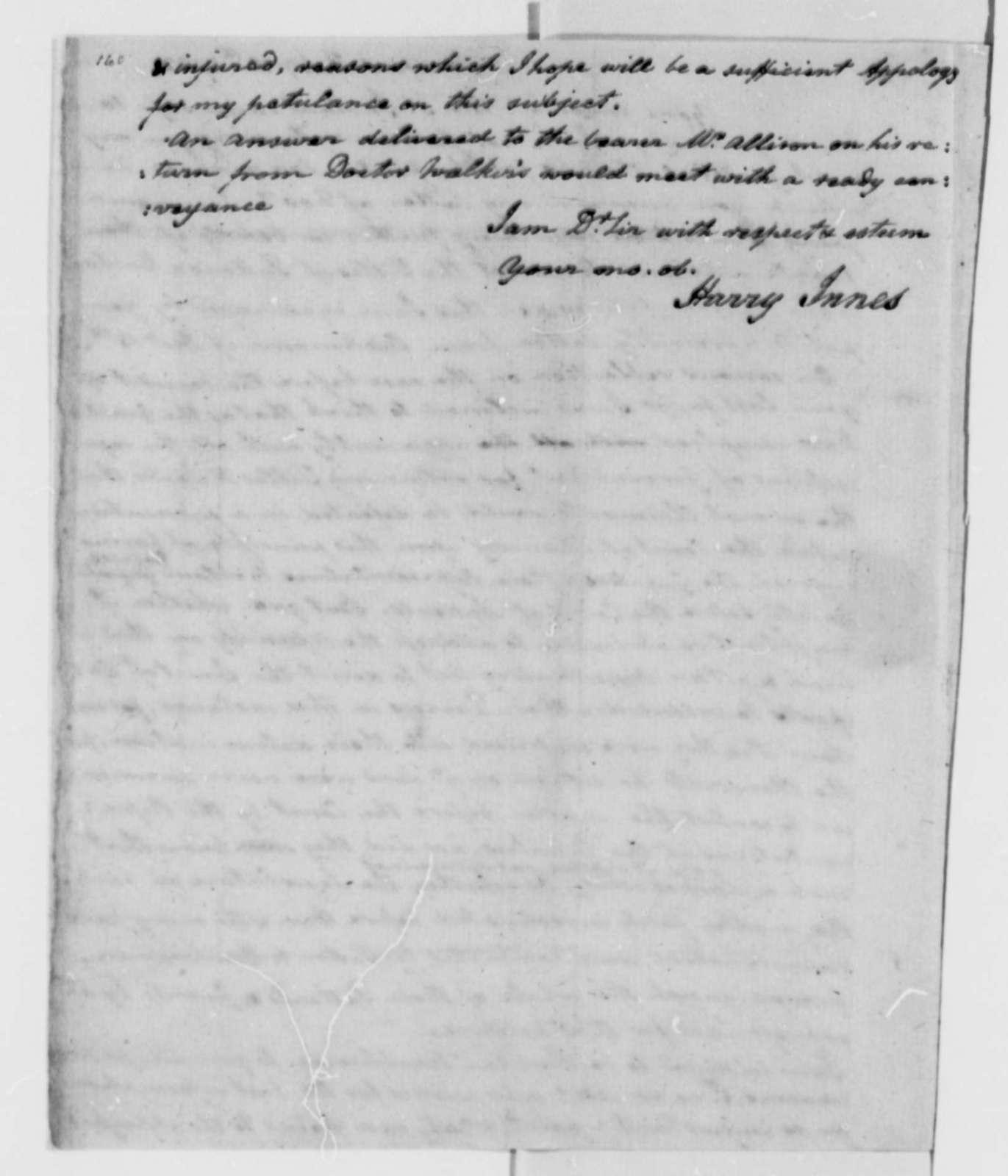 Harry Innes to Thomas Jefferson, February 18, 1782