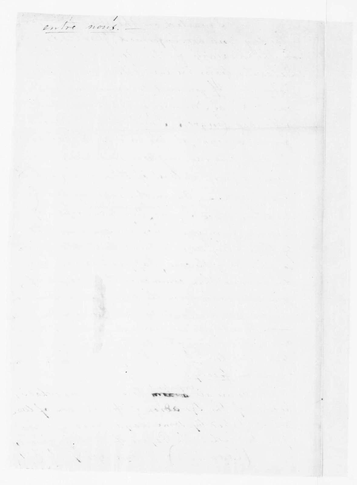 J. Ambler to James Madison. 1782.