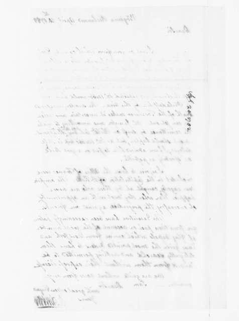 Jacquelin Ambler to James Madison, April 20, 1782.