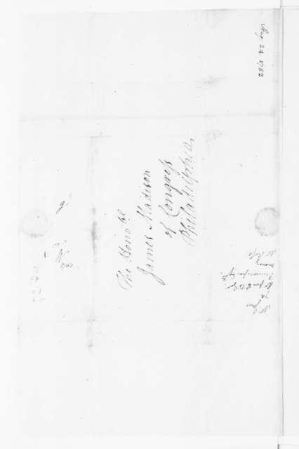 Jacquelin Ambler to James Madison, August 24, 1782.
