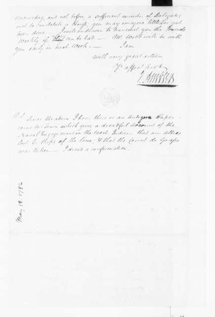 Jacquelin Ambler to James Madison, May 18, 1782.