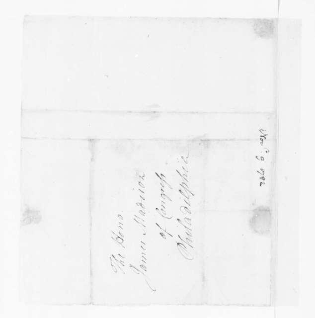 Jacquelin Ambler to James Madison, November 9, 1782.