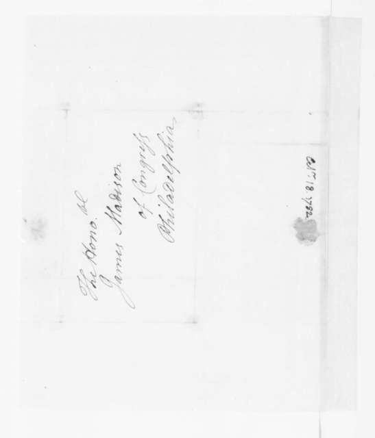 Jacquelin Ambler to James Madison, October 18, 1782.