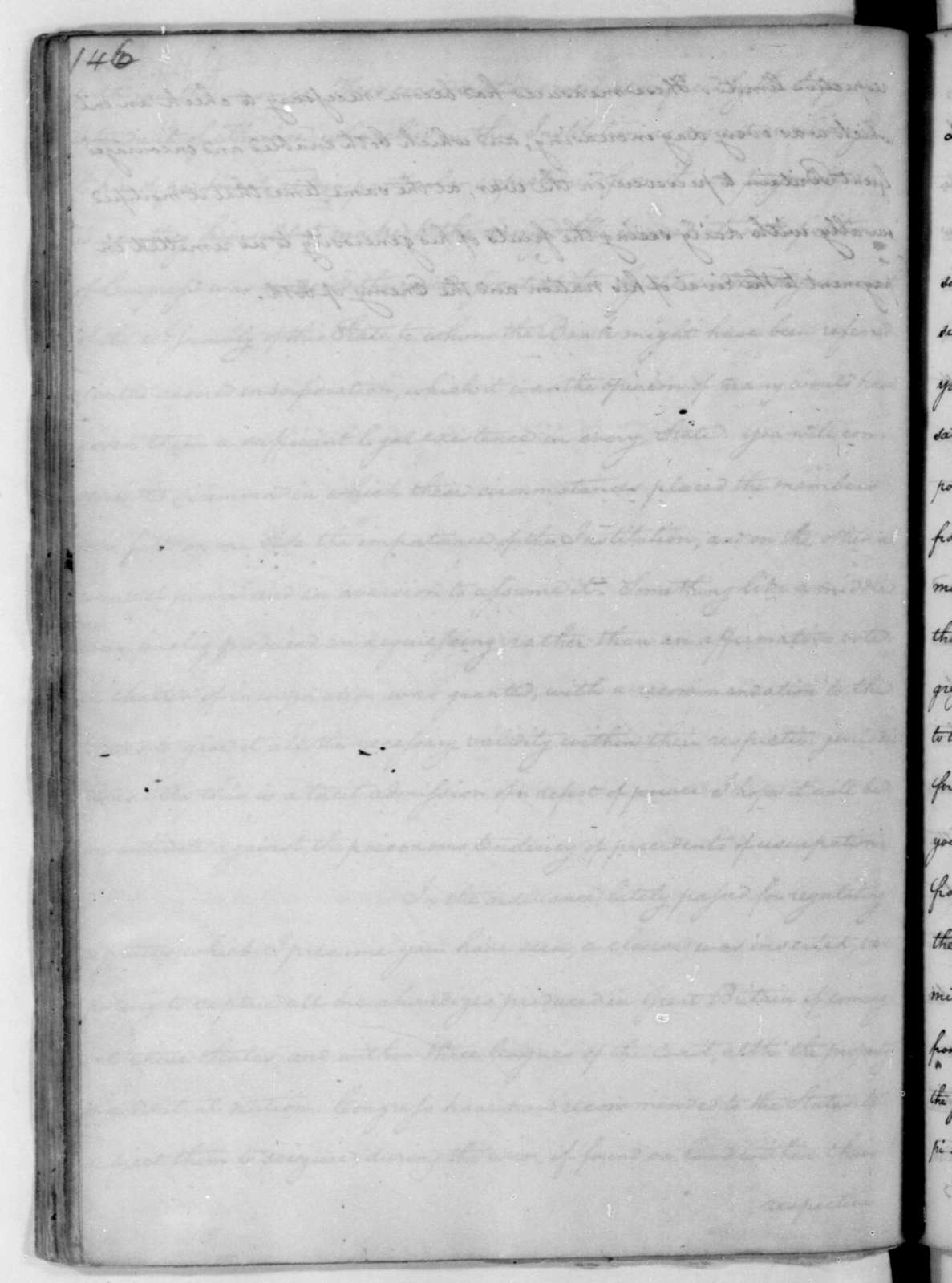 James Madison to Edmund Pendleton, January 8, 1782.