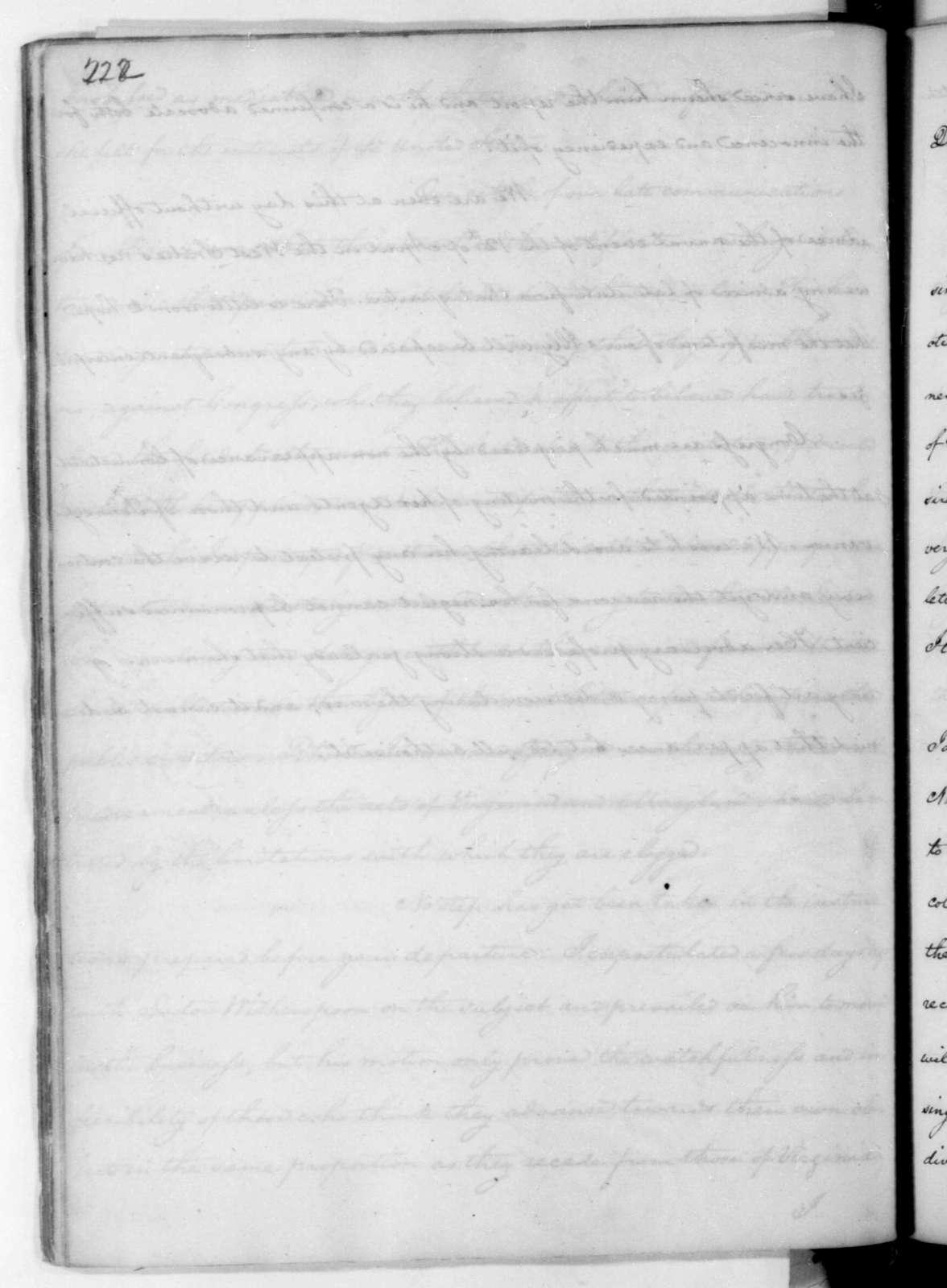 James Madison to Edmund Randolph, July 2, 1782.