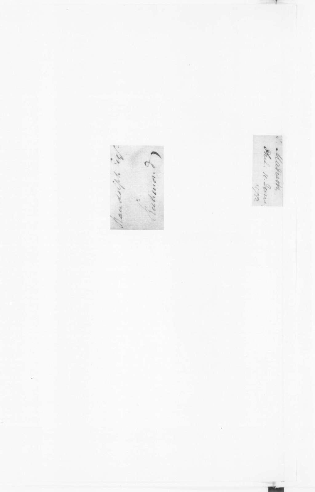 James Madison to Edmund Randolph, June 11, 1782.