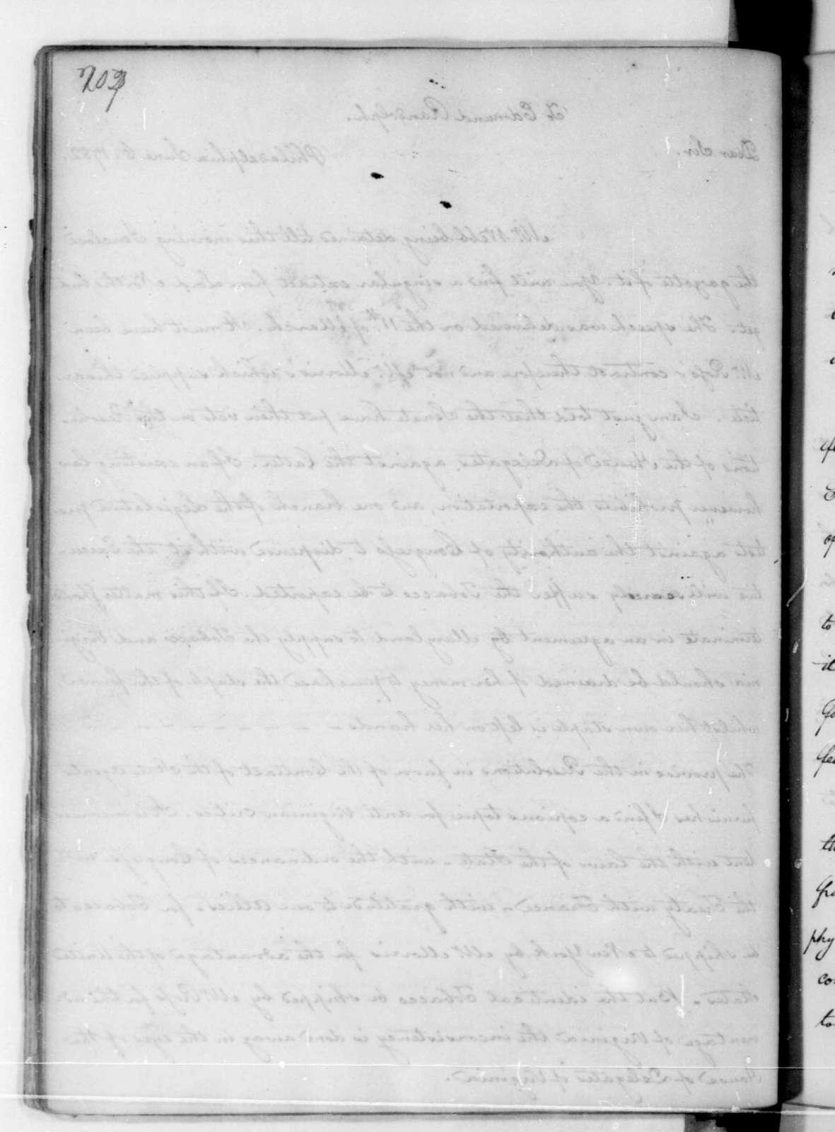 James Madison to Edmund Randolph, June 6, 1782.