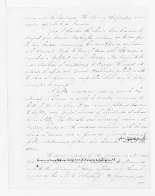 James Madison to Edmund Randolph, May 14, 1782.