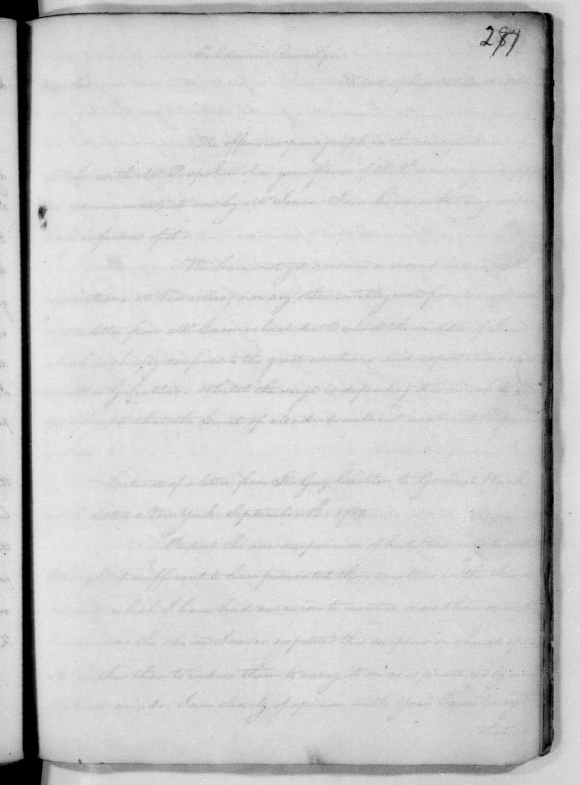 James Madison to Edmund Randolph, October 8, 1782. Fragment.