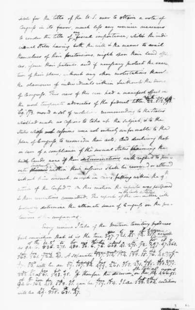 James Madison to Edmund Randolph, September 10, 1782. Partly in Cipher.