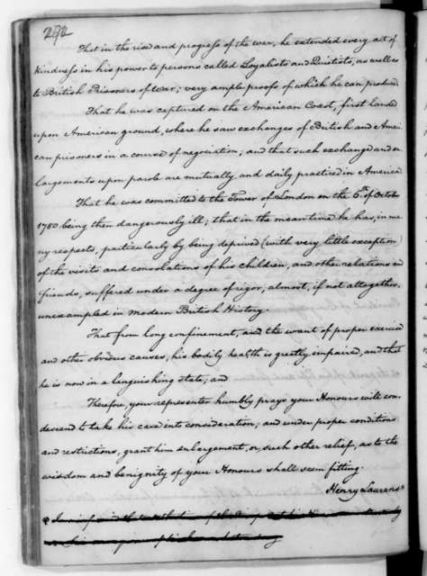 James Madison to Edmund Randolph, September 24, 1782. Includes an extract from a letter from Henry Laurens to Charles W. Cornwall and an extract from a speech by Mr. Burke.