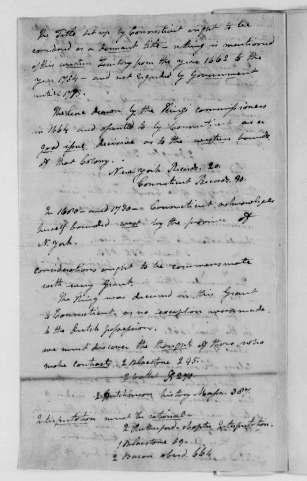 James Wilson and William Samuel Johnson, December 14-23, 1782, Arguments Before Court of Commissioners on Connecticut, Pennsylvania Territorial Dispute