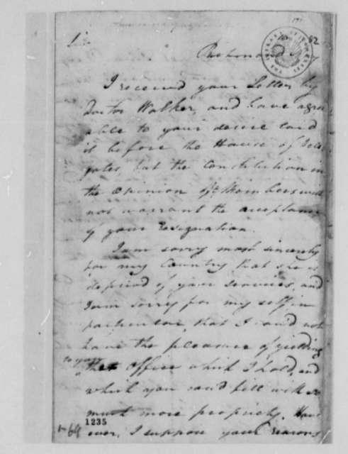 John Tyler to Thomas Jefferson, May 16, 1782