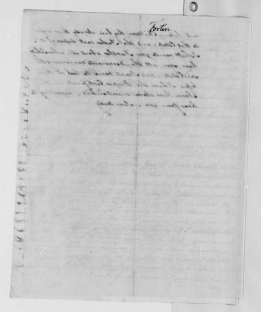 Joseph Fortin to Thomas Jefferson, October 11, 1782, with Record in French