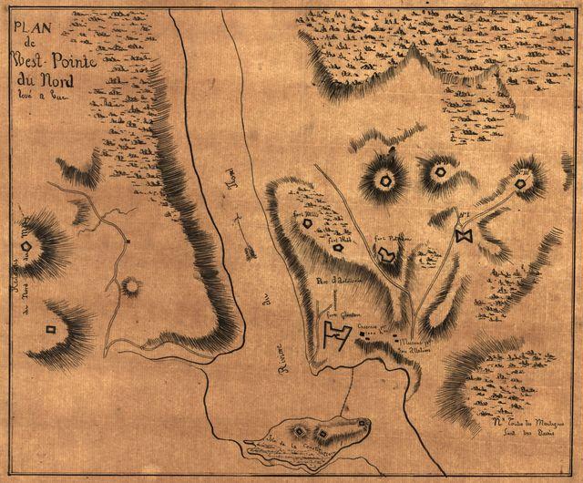Plan de West-Pointe du nord levé a vue.