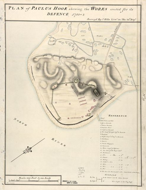 Plan of Paulus Hook shewing the works erected for its defence, 1781-2 /