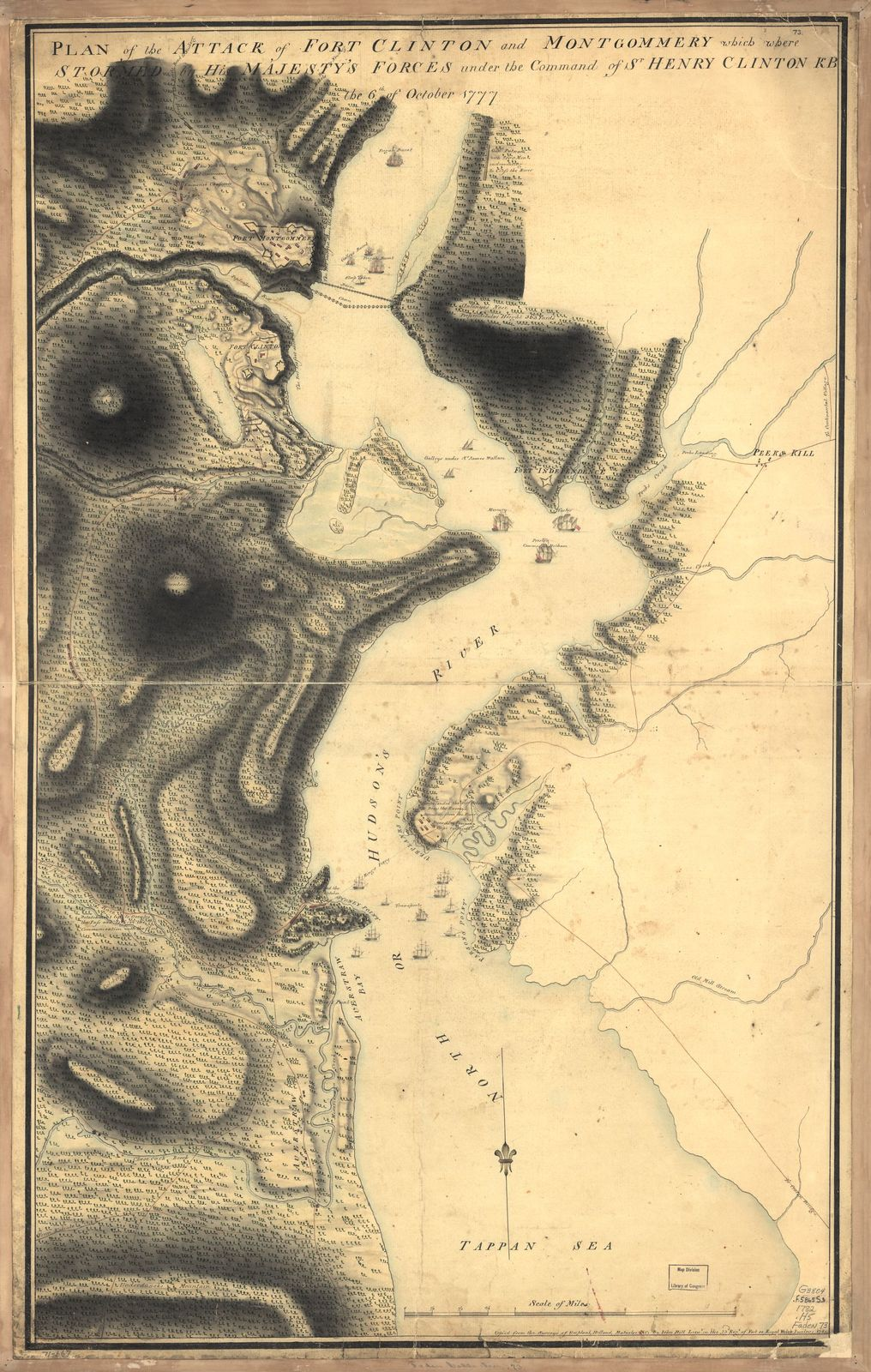 Plan of the attack of Fort Clinton and Montgomery which where [sic] stormed by His Majesty's forces under the command of Sr. Henry Clinton, KB, the 6th of October 1777.