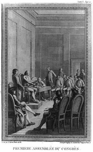 Premiere assemblée du congrès / dessiné par le Barbier Peintre du Roi ; gravé par Godefroy de l'Academie Imple. et Royale de Vienne &c.