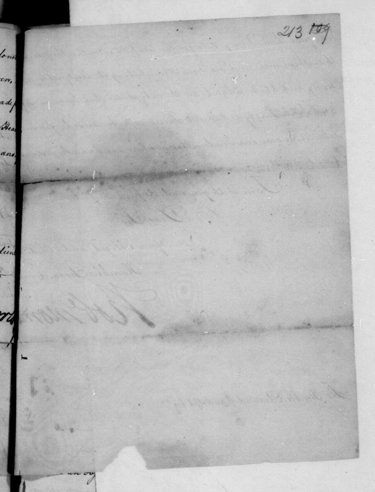 Robert Morris to Edmund Randolph, June 11, 1782. Includes typed transcription.