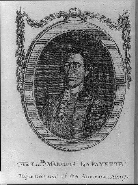 The honble. Marquis Lafayette, major general of the American army