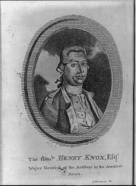 The honle. Henry Knox, Esqr., major general of the artillery in the American Army / J. Norman sc.