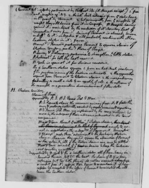 Thomas Jefferson, 1782, Notes on Virginia Claims in Western Territory