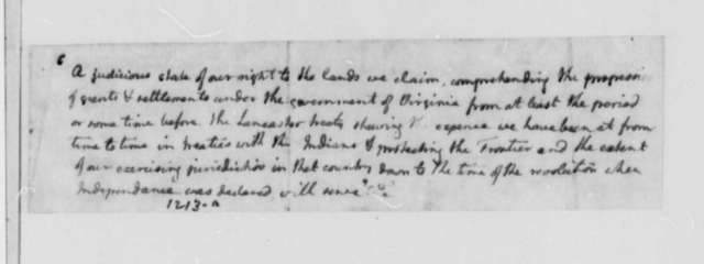 Thomas Jefferson, February 15, 1782, Opinion on James Freeland Law Case; Petition for Estate by Mace Freeland
