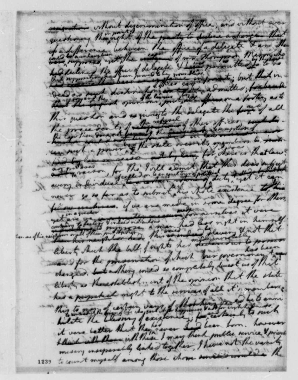 Thomas Jefferson to James Monroe, May 20, 1782