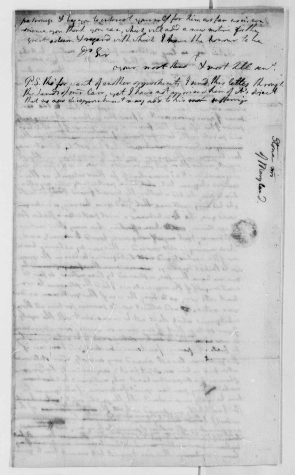 Thomas Jefferson to Thomas Stone, March 16, 1782