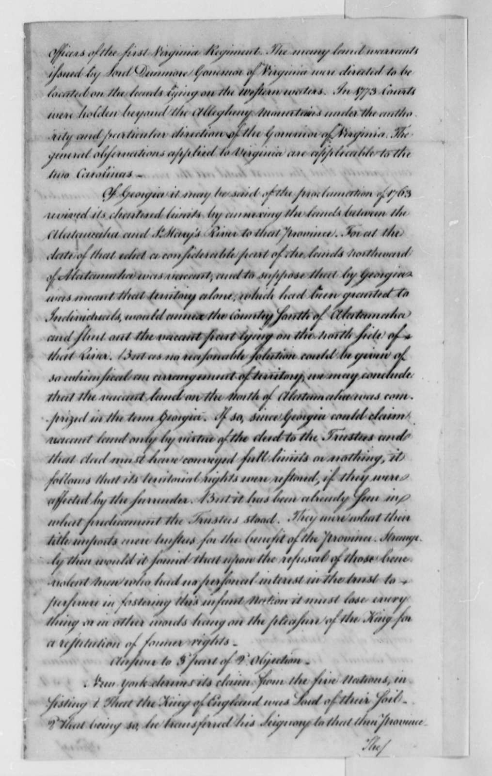 "United States Congress to American Peace Commissioners, August 1782, ""Report of Instructions to Ministers for Negotiating Peace"""