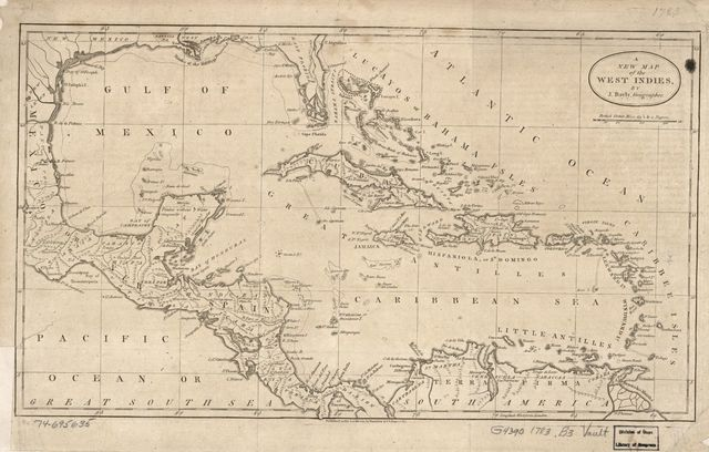A new map of the West Indies,