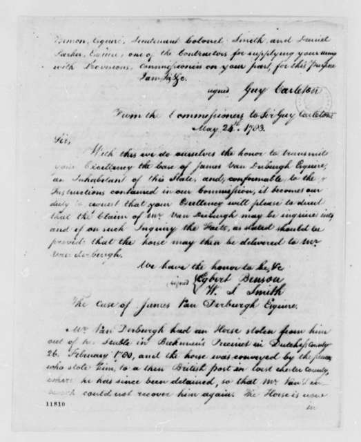 American Commissioners to Guy Carleton, May 24, 1783