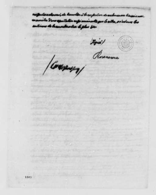 Baron Rosencrone to Benjamin Franklin, July 8, 1783