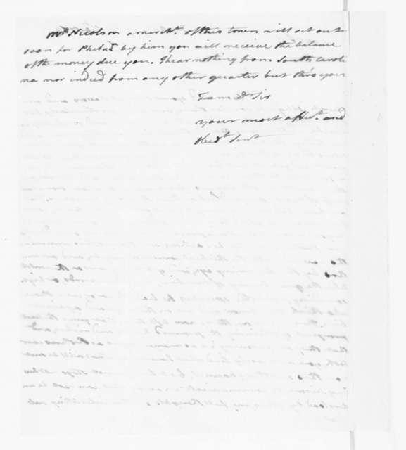 Benjamin Harrison to James Madison, January 4, 1783.