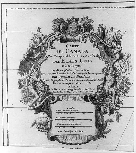 Carte du Canada qui comprend la Parúe Septentrionale des Etats Unis d'Amérique