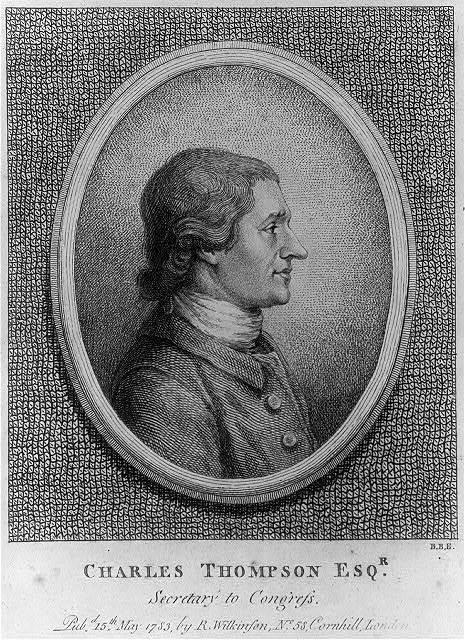 Charles Thomson Esq'r. - secretary to congress / B.B.E.