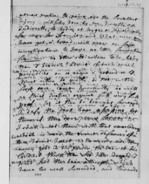 Charles Williamos to Thomas Jefferson, July 8, 1783