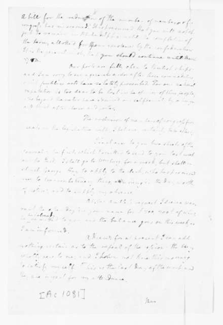 Edmund Randolph to James Madison, May 25, 1783.
