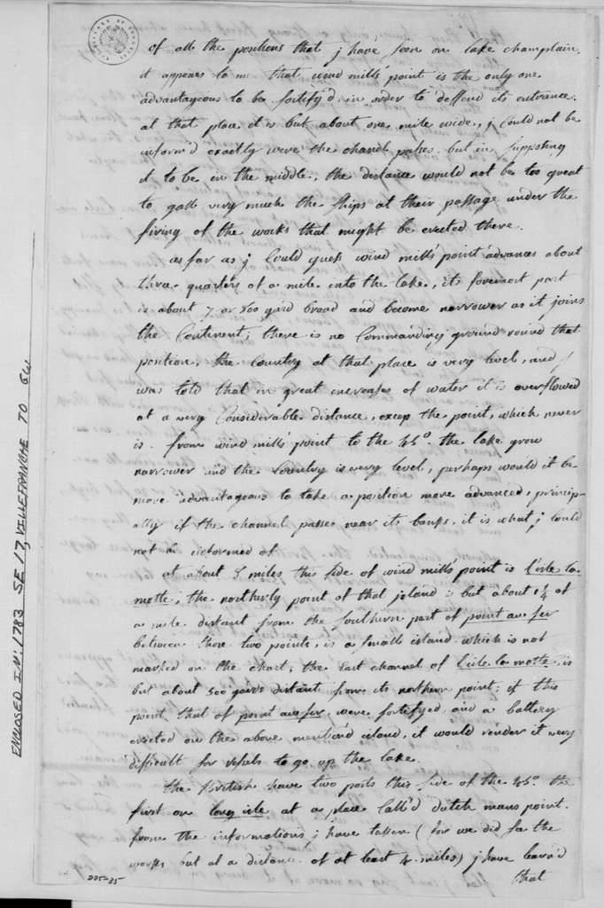 George Washington Papers, Series 4, General Correspondence: Chevalier de Villefranche to George Washington, September 17, 1783, with Description and Recommendation