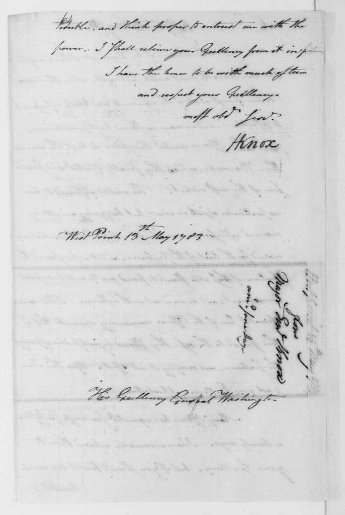 George Washington Papers, Series 4, General Correspondence: George Washington to Henry Knox, May 14, 1783