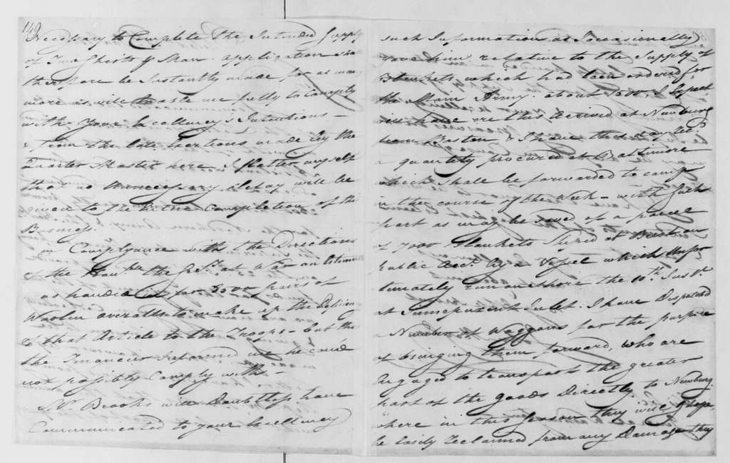 George Washington Papers, Series 4, General Correspondence: John Moylan to George Washington, January 28, 1783