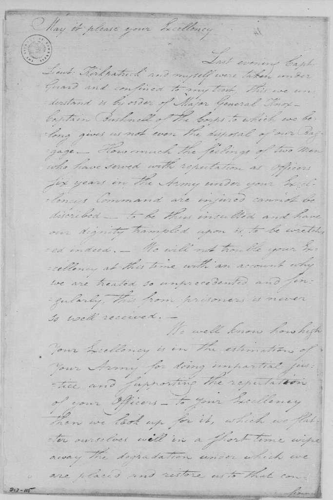 George Washington Papers, Series 4, General Correspondence: Peter Taulman to George Washington, January 2, 1783