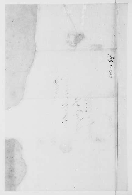 Jacquelin Ambler to James Madison, August 31, 1783.