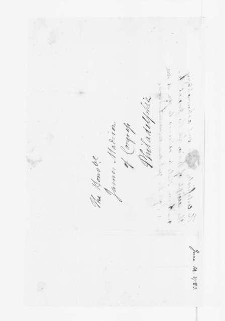 Jacquelin Ambler to James Madison, June 14, 1783.