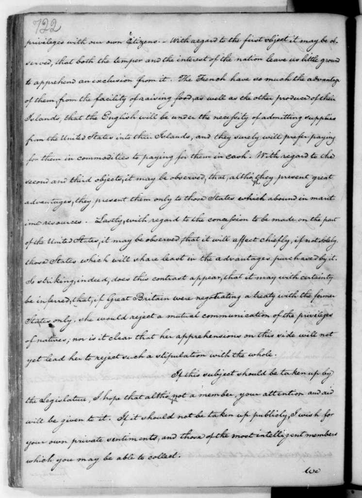 James Madison to Edmund Randolph, May, 1783.