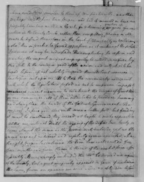 Joseph Jones to Thomas Jefferson, December 29, 1783