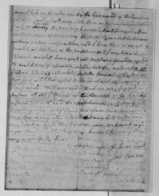 Joseph Jones to Thomas Jefferson, December 29, 1783