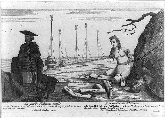 Le grande Bretagne mutilé Das verstümmelte Britanien.