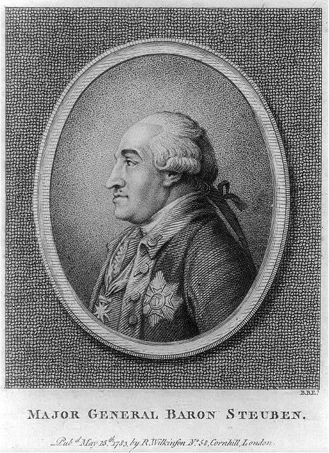 Major general Baron Steuben / B.B.E.