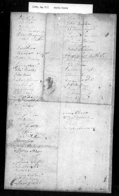 May, 1783, Amelia, For removal of all religious distinctions.